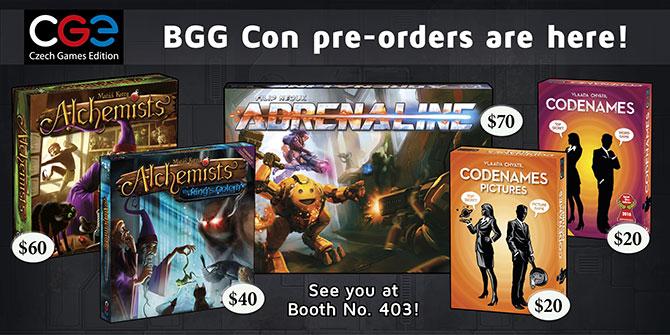 BGG Con info & pre-order
