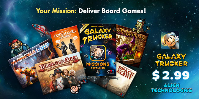 Special Galaxy Trucker mission for International Tabletop Day