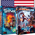 Both Trapwords and Adrenaline DLC are landing at your FLGS in the US!