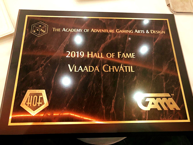 Vlaada has been inducted into the the Origins Hall of Fame!