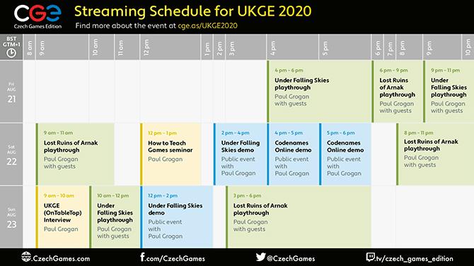 Virtually Expo 2020 schedule