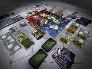 Space Alert - game components